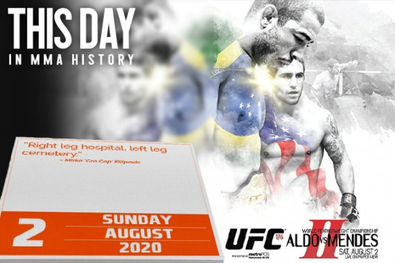 This Day in MMA History: August 2