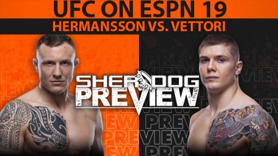 Preview: UFC on ESPN 19 Main Card - Hermansson vs. Vettori