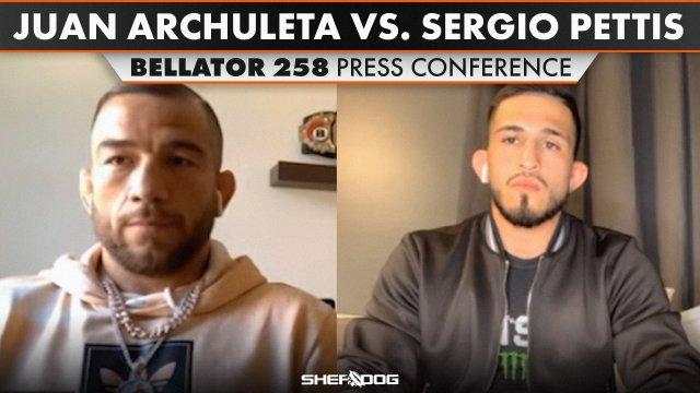Juan Archuleta Sergio Pettis Bellator 258 Virtual Media Day Interviews